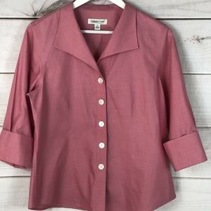 Coldwater Creek Womens Pink  3/4 Sleeve Blouse